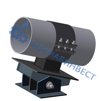 Опора для трубопровода с уклоном